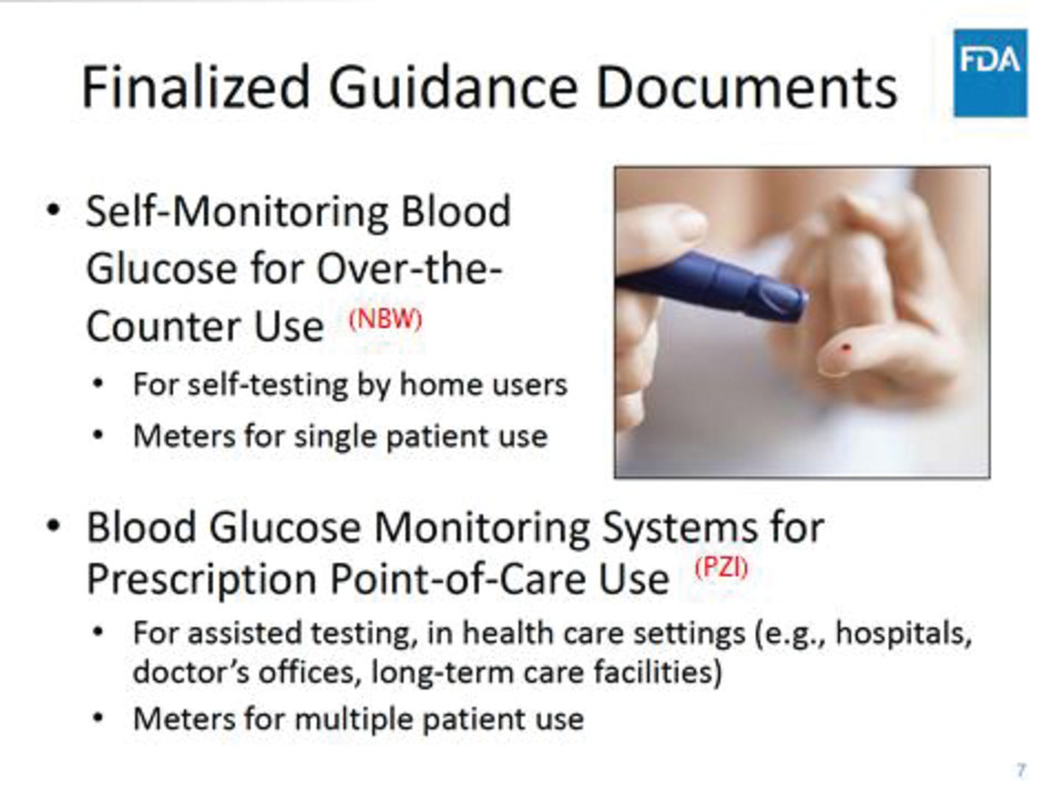 Glucose meters: current regulatory guidance for